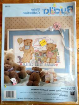Bucilla Welcome Baby Collection Birth Record Counted Cross S