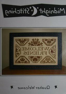 """WELCOME FRIENDS"" cross stitch Pattern by Midnight Stitching"