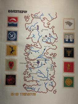 Westeros  Counted Cross Stitch - ready to frame