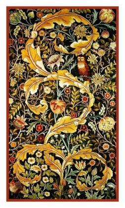 William Morris Acanthus Leaves Owl Counted Cross Stitch Char