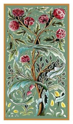 William Morris Oak Roses Design Counted Cross Stitch Chart P