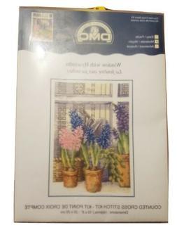 "DMC ""Window with Hyacinths"" Counted Cross Stitch Kit"