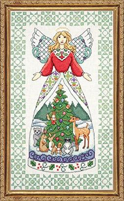 "Winter Angel-Jim Shore Counted Cross Stitch Kit, 9"" x 15"", 1"