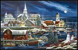 Winter Harbor - Chart Counted Cross Stitch Pattern Needlewor