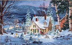 "Winter's Hush Counted Cross Stitch Kit - 16"" x 10"