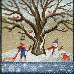 Winter Oak Cross Stitch Kit Mill Hill 2017 Mighty Oak Quarte