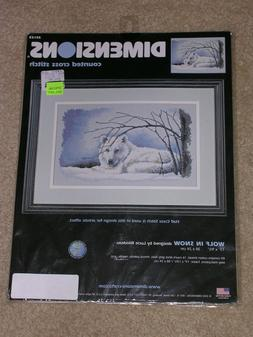 Wolf in Snow - Dimensions counted cross stitch kit - Brand N