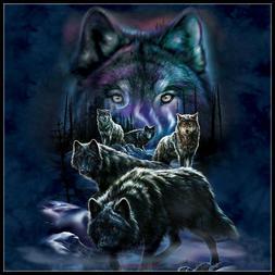 Wolf Pack - Chart Counted Cross Stitch Pattern Needlework Xs