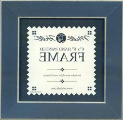 Wooden Frame 8X8-Matte Blue